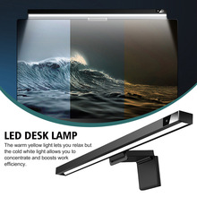 Dimmable Hanging Office Reading USB Powered LED Desk Lamp PC Screen Bar No Glare Study Computer Monitor Light Accessories
