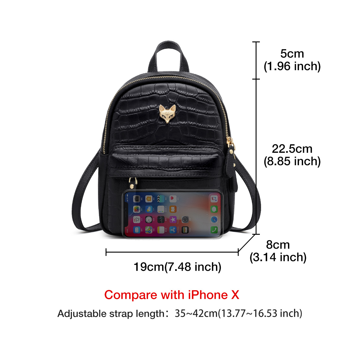 Foxer Angly Women Soft Travel Leather Backpack