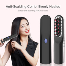 Hair Straightener Hair Brush Fast Comb hair Electric brush comb Irons Auto Straight Hair Comb brush Styling Tools Girls Ladies new hot tv electric brush fast hair straightener lcd comb auto massager tools ceramic straightening irons
