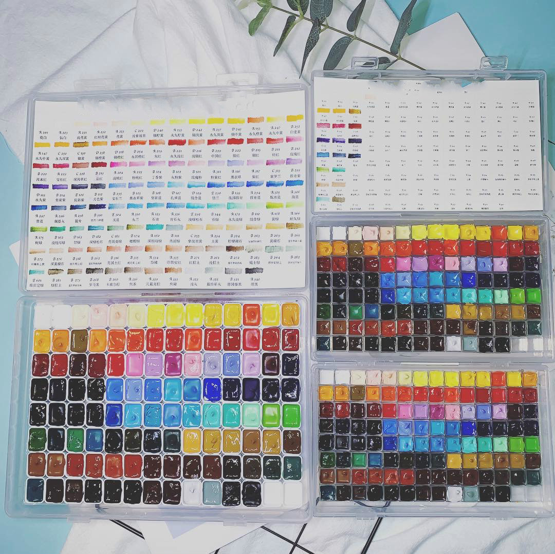 0.3ml / 0.5ml / 1ml / 2mlx110 Color Watercolor Packing Set / Painting Pigment Set / Art Supplies/ Art Supplies For Artist
