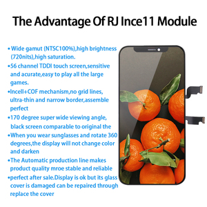 Image 2 - AAA + + + RJ Incell מסך עבור IPhone X XS XR XS מקסימום 11 Pro LCD תצוגת החלפת עצרת Digitizer מגע pantalla מושלם תיקון