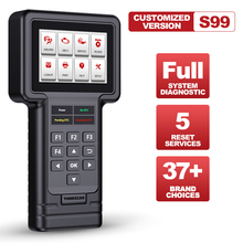ثينك كار ثينك المسح S99 ألواح رسومات للسيارات يمكنك تركيبها بنفسك OBD2 كامل نظام رمز القارئ الماسح الضوئي النفط/الفرامل/SAS/ETS/DPF إعادة تعيين أدوات التشخيص