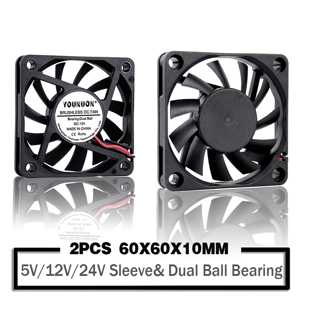 60mm60mm20mm DC 12V 2 in Cooler Brushless Axial C CU Case Cooling Fan 6020