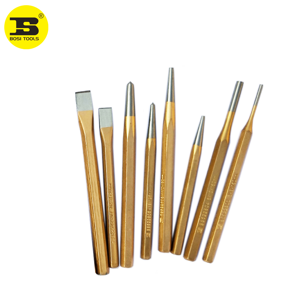 BOSI Center Punch Cold Chisels Solid Pin Punches