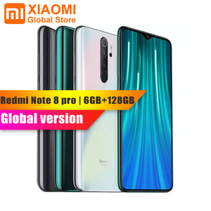 Image 1 - Küresel sürüm Xiaomi not 8 Pro 6GB RAM 128GB ROM Smartphone NFC Helio G90T hızlı şarj 4500mAh 64MP kamera akıllı cep telefonu