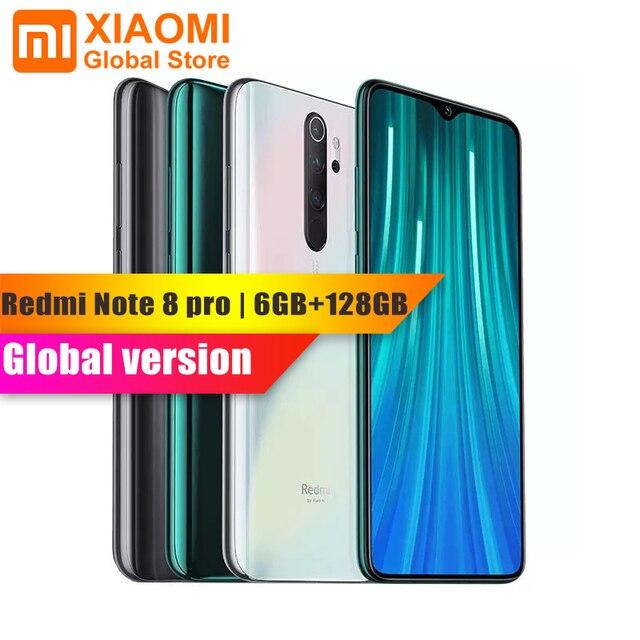 Küresel sürüm Xiaomi not 8 Pro 6GB RAM 128GB ROM Smartphone NFC Helio G90T hızlı şarj 4500mAh 64MP kamera akıllı cep telefonu