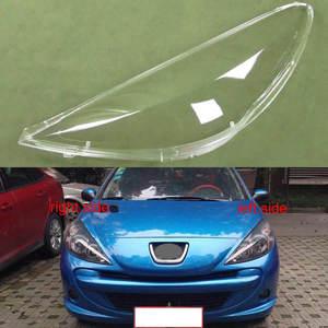Image 1 - Dla Peugeot 207 2009 2010 2011 2012 2013 przezroczysty klosz klosz do lampy przedni reflektor obudowa Lamplights osłona obiektywu