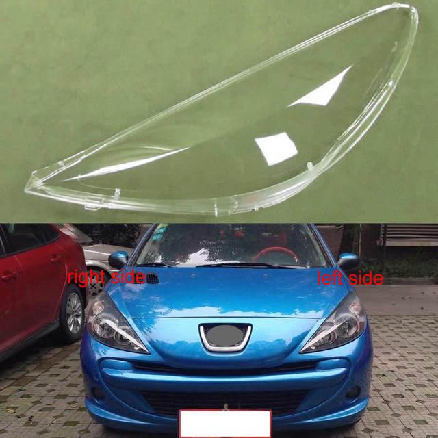 Dla Peugeot 207 2009 2010 2011 2012 2013 przezroczysty klosz klosz do lampy przedni reflektor obudowa Lamplights osłona obiektywu