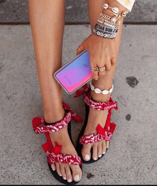 Sandalias Mujer 2020 Women Ankle-Strap Sandals Summer Low Heels Shoes Open Toe Casual Shoes Beach Sandals Plus Size 35-42