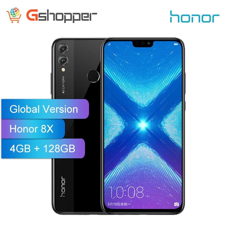 Version mondiale Honor 8X4 GB 128GB 6.5 pouces OTA mise à jour Smartphone téléphone Mobile Android 8.1 Octa Core identification d'empreintes digitales