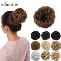 S-noilite 55g forme de fleur synthétique bouclés Chignon élastique cheveux Chignon beignet postiches pour femmes élastique cordon Clips