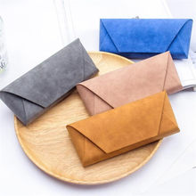 Nieuwe Mode Pu Leather Cover Zonnebril Case Voor Vrouwen Mannen Bril Draagbare Zachte Glazen Bag Accessoires Glazen Doos 6.5cm