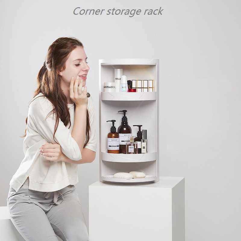 Small Package Mail Bathroom Rotating Shelf Floor Mounted Wall Corner Storage Rack Toilet Washing Table Storage Cabinet Aliexpress