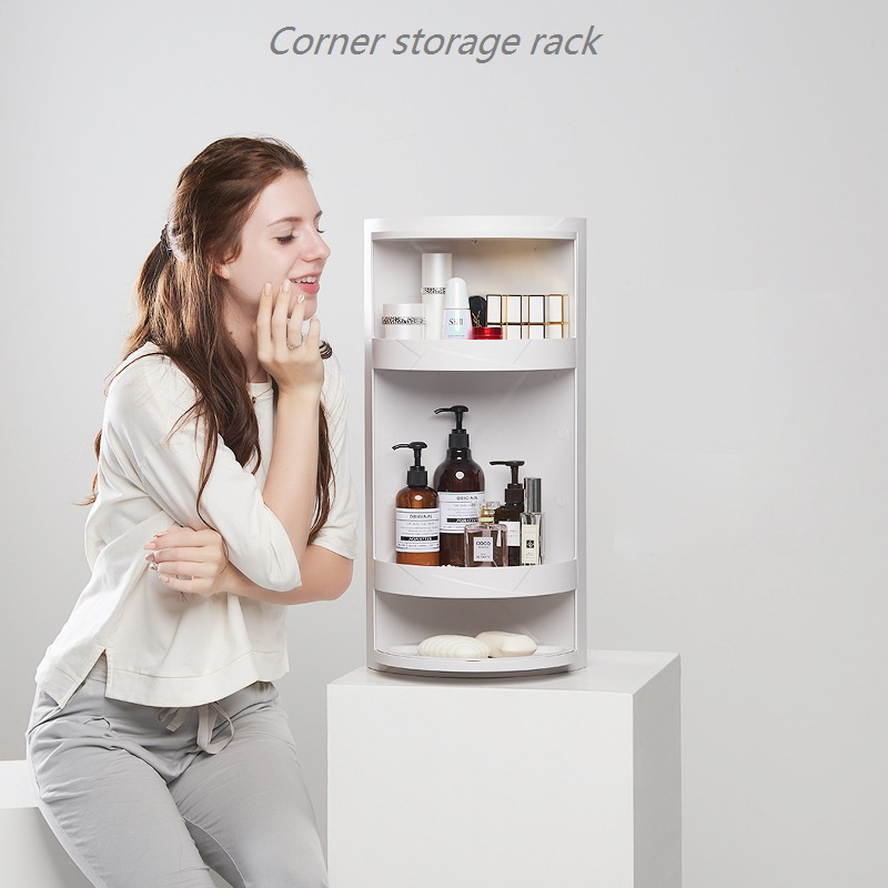 Small Package Mail Bathroom Rotating Shelf Floor Mounted Wall Corner Storage Rack Toilet Washing Table Storage Cabinet