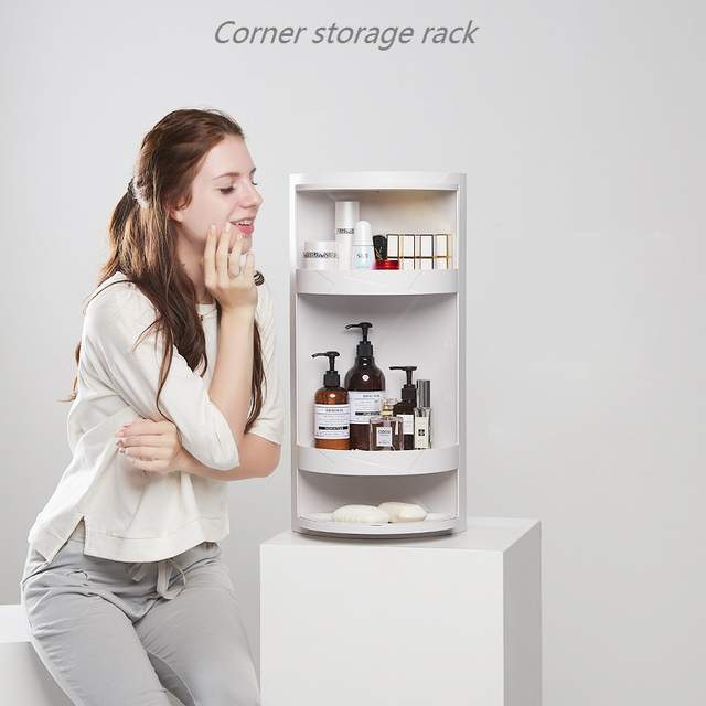 Small Package Mail Bathroom Rotating Shelf Floor Mounted Wall