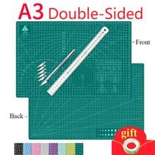 A3 maty do cięcia poduszka deska duży odręczny papier testowy rysunek piękno WorkbeScaling Model gumowa uszczelka grawerowanie pokładzie DIY