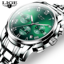2020 Men Watch Luxury Top Brand LIGE Sport Chronograph