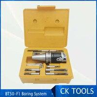 top quality BT40 M16 Arbor F1 -12 100mm large boring head and 9pcs 19mm boring bars  boring head set rang 12-225mm
