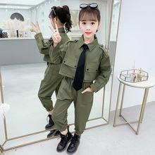 Повседневный осенний комплект одежды для маленьких девочек 6