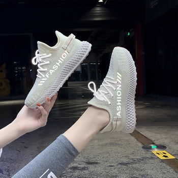 Women Sneakers Vulcanized Shoes Casual Shoes Woman Comfortable Breathable White Flats Female Lace Up Chaussure Femme Reflective mwy fashion casual shoes woman comfortable breathable mesh soft sole female platform sneakers women chaussure femme basket femme