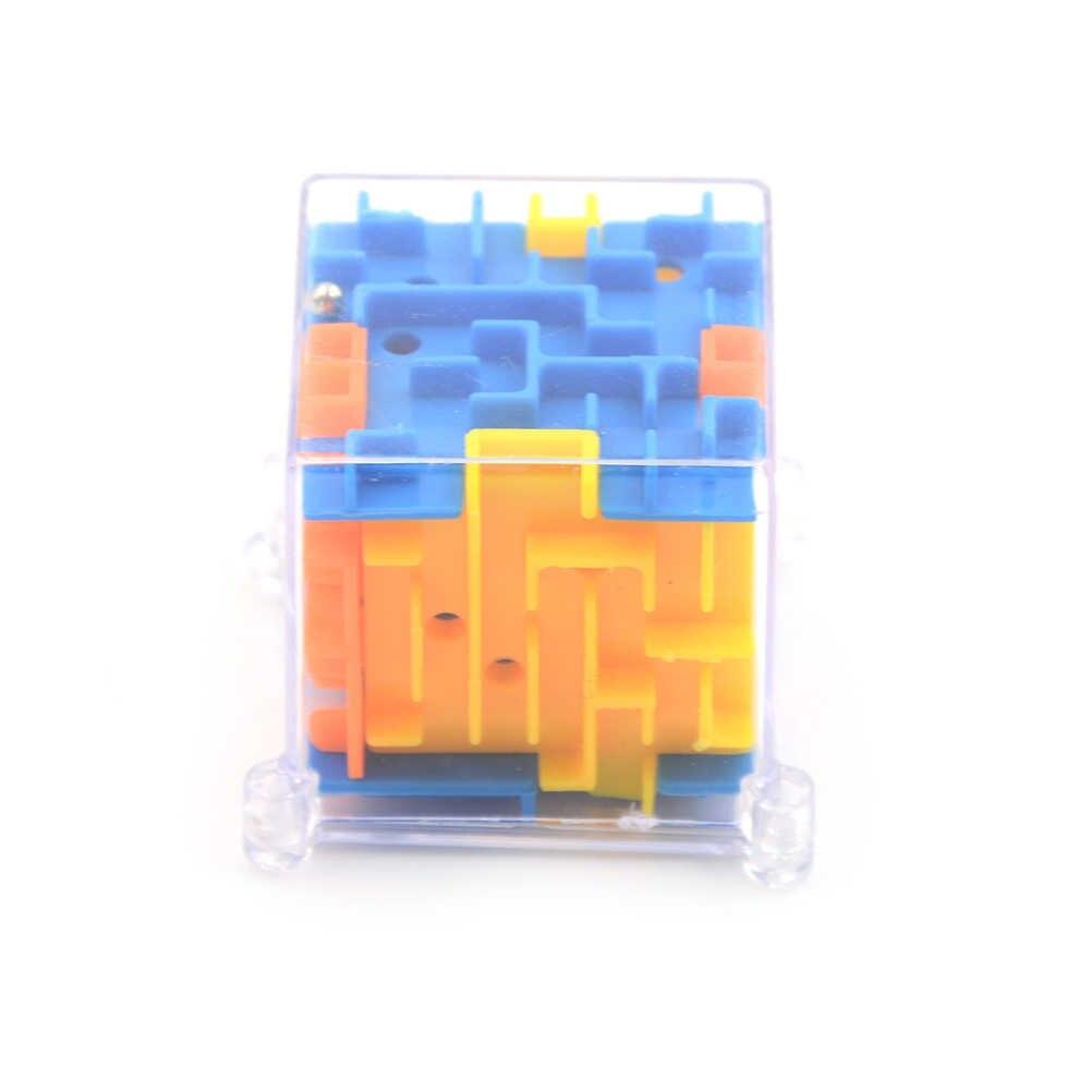 Kunststoff 3D Mini Geschwindigkeit Würfel Labyrinth Zauberwürfel Puzzle Puzzle Spiel Cubos Magicos Lernen Spielzeug Labyrinth Rolling Ball Spielzeug Für kinder