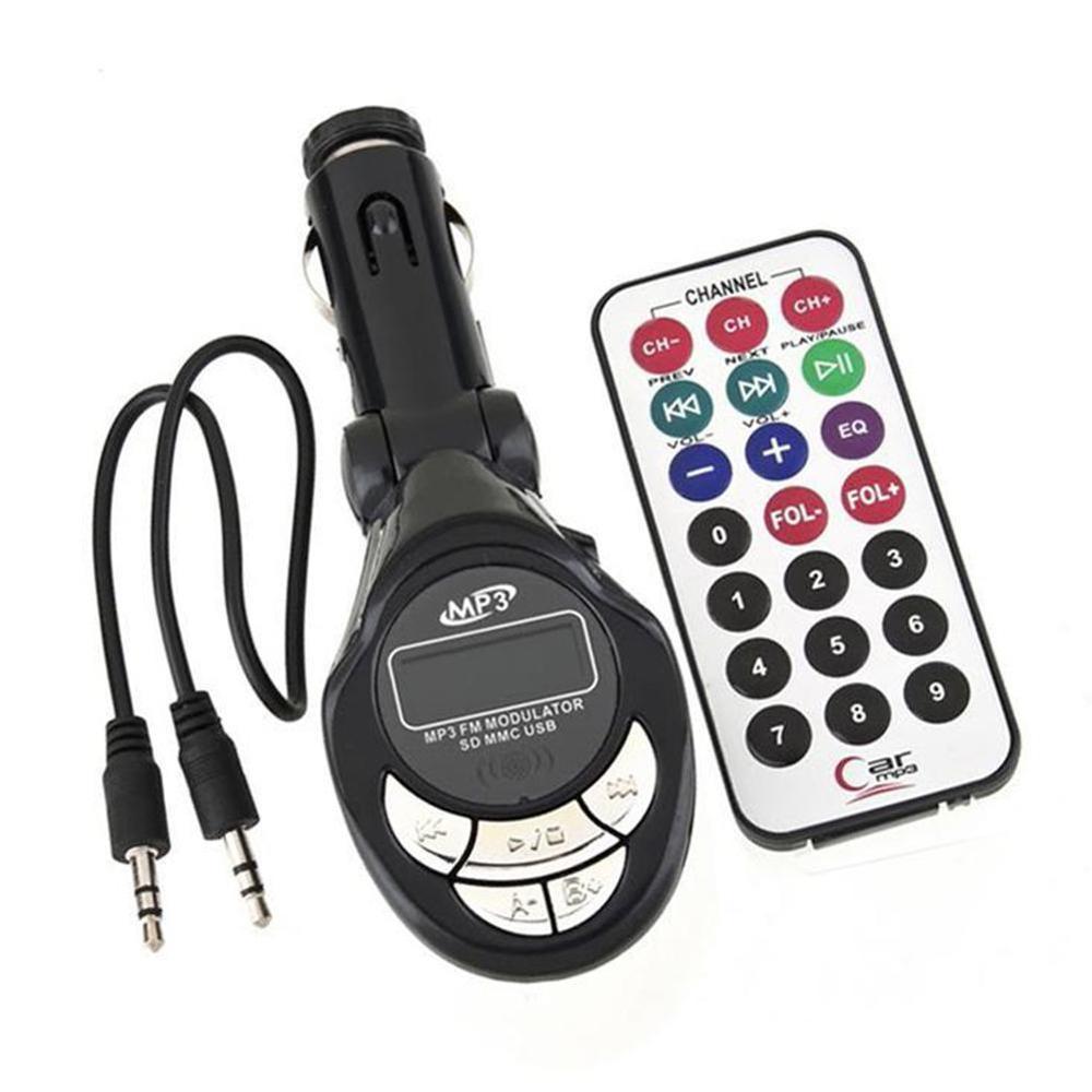 4 In1 Car MP3 Player Wireless FM Transmitter Modulator USB SD CD MMC Remote Built-in Stereo Wireless Transmitt Car MP3 Playerer