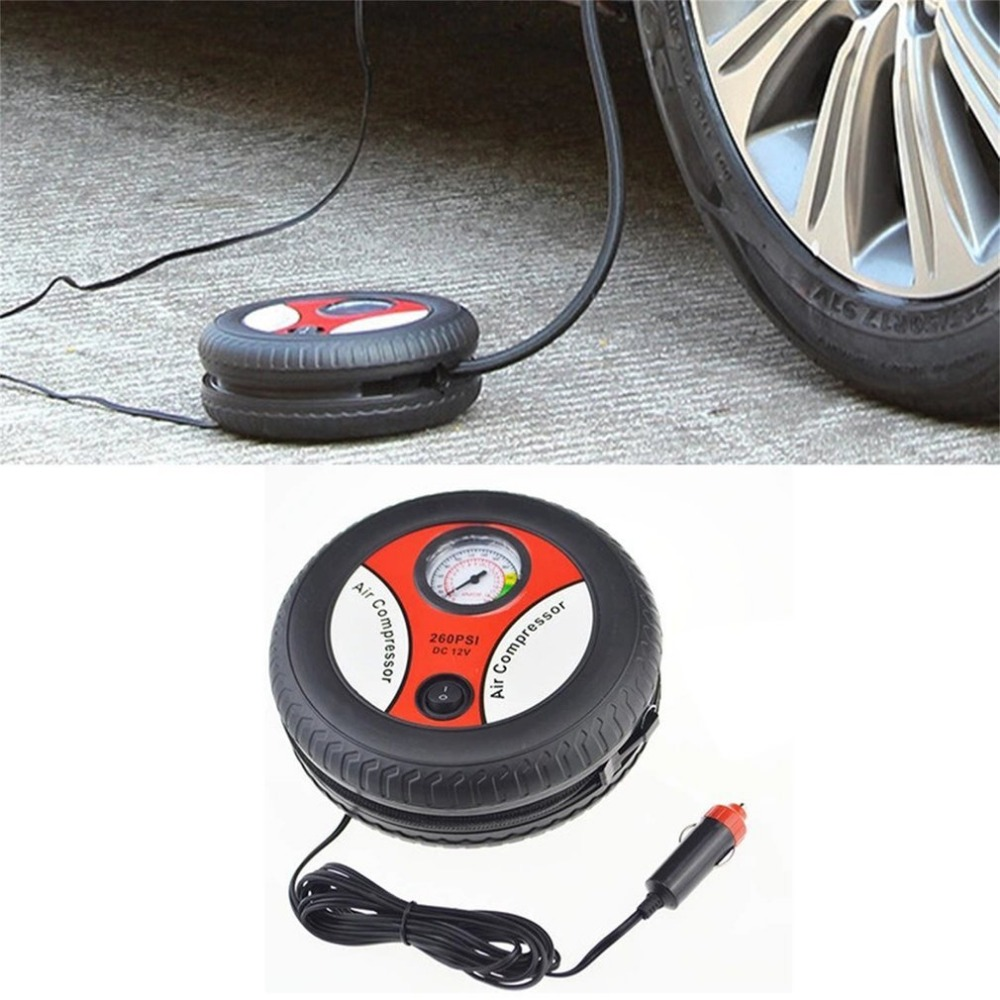 New Car Tire Inflation Pump Air Compressor Mini Tire Design 12V Input Voltage Electric Inflating Machine Suitable For Most Cars