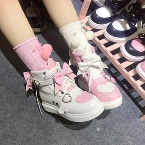Женские туфли с бантом в Корейском стиле Харадзюку, вечерние туфли с круглым носком для девочек