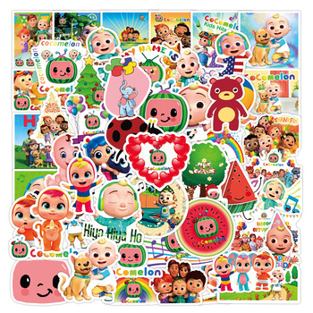 10/30/50/100PCS Anime Cocomelon English Nursery Rhymes Graffiti Sticker For Laptop Skateboard Motorcycle Sticker Toy Kids Gift image