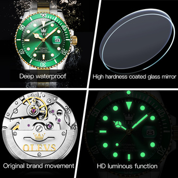 Original Luxury Automatic Watch Men Mechanical Movement Waterproof Sports Top Brand Stainless Steel Wristwatch Reloj Hombre 3