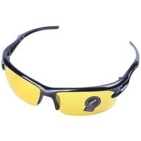 Radfahren Sonnenbrille schwarz rahmen gelb Nachtsicht blatt outdoor ausrüstung