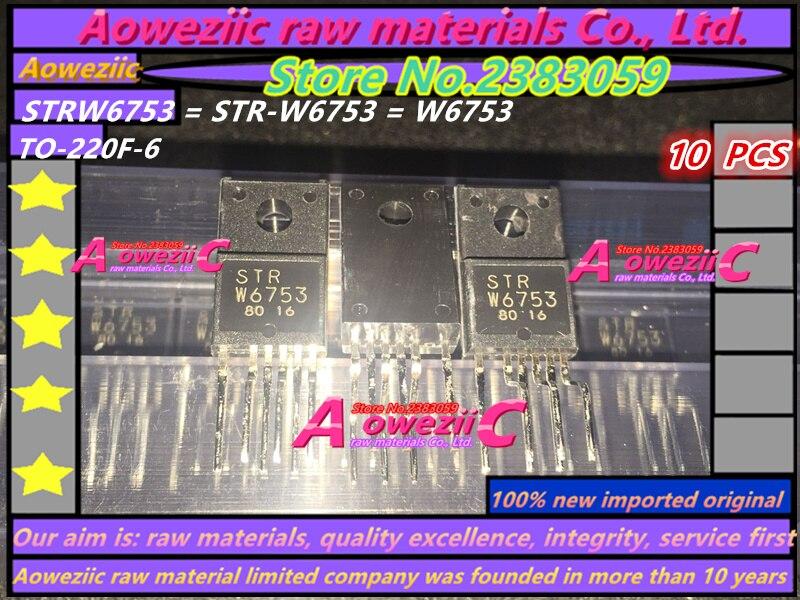 Aoweziic 100%new Imported Original STRW6753 STR-W6753 W6753 GP18S50G MR4011 SIHF30N60E-E3 SIHF30N60E F30N60E TO-220F  Transistor