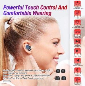 Image 2 - TWS True Wireless Earbuds 5.0 Bluetooth Earphone Smart Noise Cancelling Microphone Headphones waterproof earbuds ipx8 headset