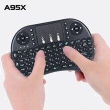 Mini teclado inalámbrico I8, 2,4 Ghz, inglés, ruso, 3 colores, Air Mouse con Touchpad, mando a distancia, Android TV Box