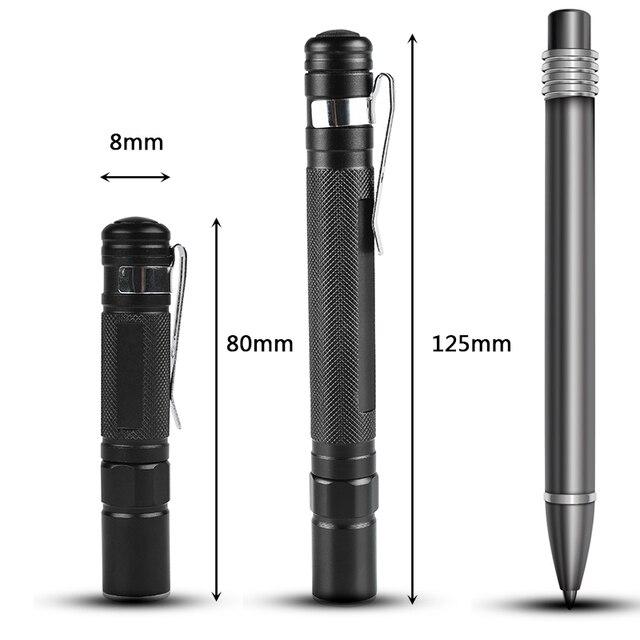 Litwod z90 + Mini Penlight cep lambası LED el feneri meşale XP-G Q5 2000LM su geçirmez fener AAA pil Led kamp yürüyüş için