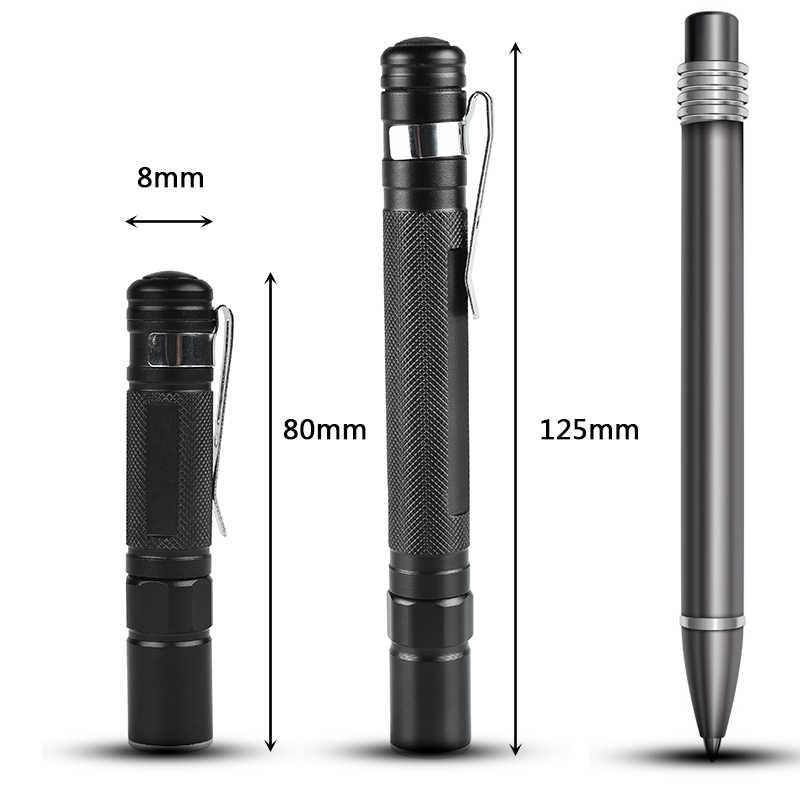 Litwod z90 + Mini latarka kieszonkowa latarka LED latarka XP-G Q5 2000lm wodoodporna latarnia AAA bateria Led na camping piesze wycieczki