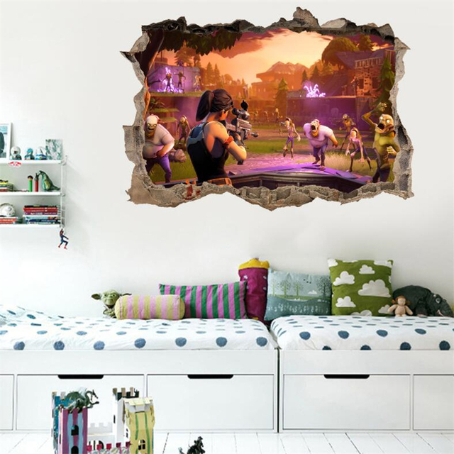 Shootout Game 3D Wall Stickers 8