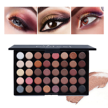 Popfeel 40 colors Shimmer Eyeshadow Single Palette Pigment Nude Gold Black Pressed Glitter Color