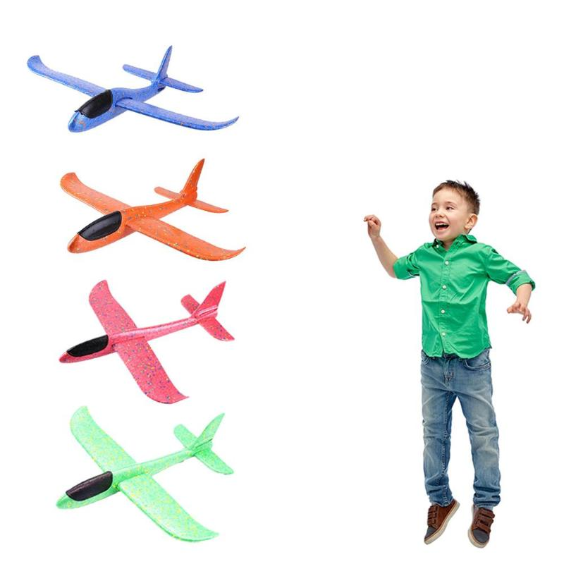 4pcs Foam Plane Glider DIY Hand Throw Foam Plane Toys for Children Fly Model Kids Craft Outdoor Kids Toy image