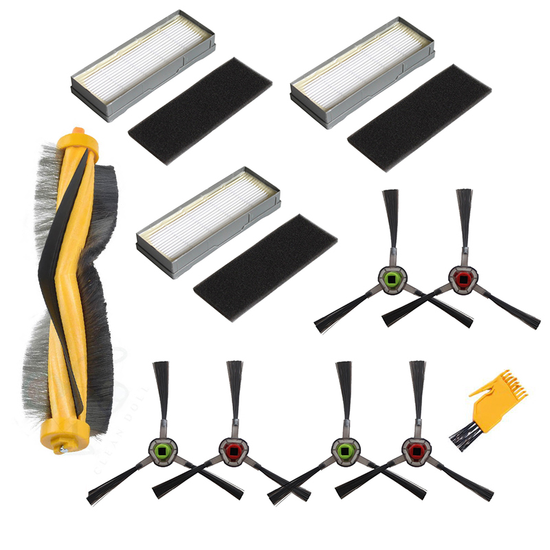 Main & Side Brushes Hepa Filter For Ecovacs Deebot M87 M88 900 901 Vacuum Cleaner Parts