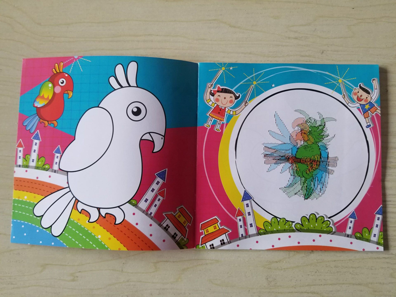Cartoon Bird Series Coloring Book Diy Children S Puzzle Movable
