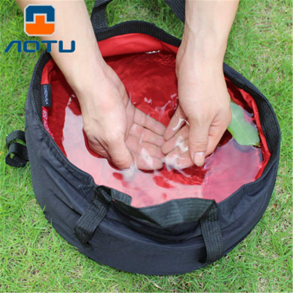Outdoor Survival Fishing Basin Hiking Camping Survival Fold Water Basin Tool Camping Equipment Bowl Washing Hand Face Basin 8.5L