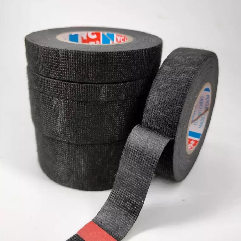 1PCS Car Heat-resistant Velvet Wire Harness Tape, Black Flame Retardant Tape Cable Protection 9/15/19/25/32mm*15M