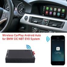 Module dinterface Apple CarPlay/Android Auto, pour système CIC avec écran, boîtier sans fil, radio, DVD, pour voiture Série 3 E90, E91, E92, E93