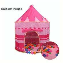 цена kids tent Portable Foldable Tipi Prince Folding Mongolian Tent Children Boy Castle Cubby Play House Kid Gifts Outdoor Indoor Toy в интернет-магазинах