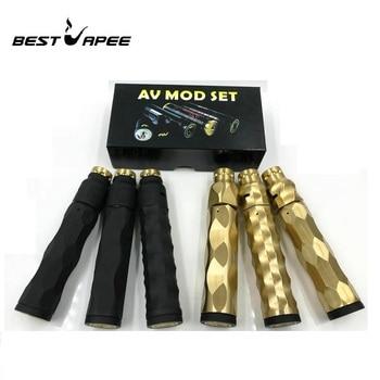 AV Mechanical mod Kit Copper Material vape mod 510 Thread 25mm Diameter fit 18650 Battery with RDA atomizer Mech mod vape pen