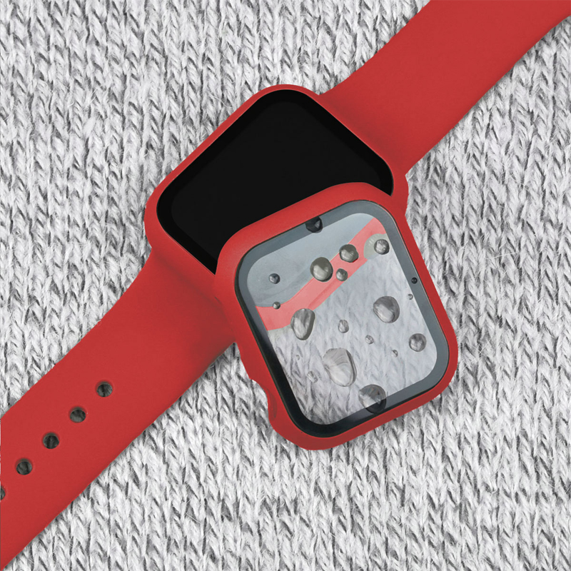 Full cover for <font><b>Apple</b></font> <font><b>Watch</b></font> 5 4 <font><b>3</b></font> 2 matte Plastic case&glass film for iWatch 44mm 40mm <font><b>42mm</b></font> 38mm screen protector accessories image