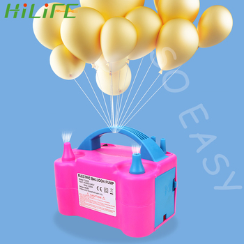 цена на HILIFE Balloon Pump EU Plug 1PC Electric Balloon Inflator Pump Air Blower Air Compressor High Voltage Double Hole