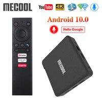 2020 Mecool KM1 ATV Google Certified Android 10 TV Box Amlogic S905X3 Smart Androidtv Prime Video 4K Dual Wifi 2T2R Set Top Box