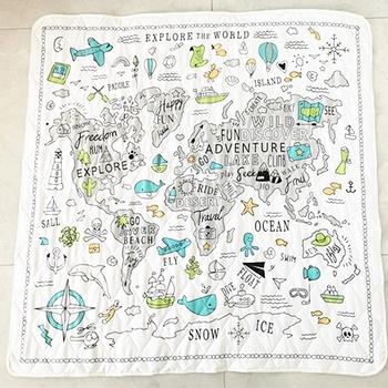Mata do zabawy dla dzieci zabawki dla dzieci mata dla dzieci dywan Playmat mata do rozwijania mapa świata maty Kid Toddler Crawl Playmat koc dla niemowląt tanie i dobre opinie W wieku 0-6m 7-12m 13-24m 25-36m 3-6y 7-12y 12 + y POLIESTER CN (pochodzenie) Unisex Babies